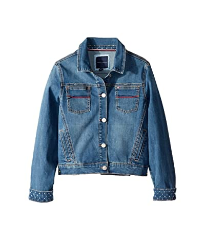 Tommy Hilfiger Kids Embroidered Denim Jacket (Big Kids) (Broadway Wash) Girl