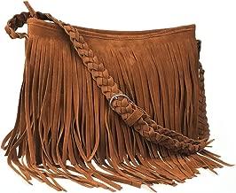 Ayliss Hippie Suede Fringe Tassel Messenger Bag Women Hobo Shoulder Bags Crossbody Handbag