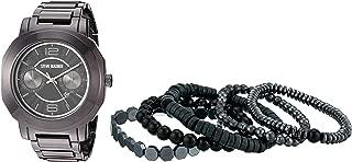 Steve Madden Men's Watch and Multi Bracelet Set SMWS066