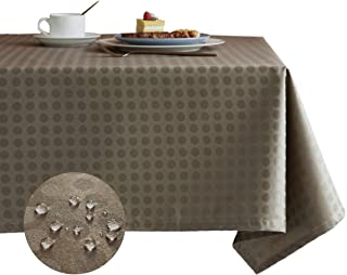 Glory Season Vinyl Wipeable Oilcloth Waterproof Tablecloth,Polka Dot 55 x 70 Rectangle Oil-Proof PVC Stain-Resistant Table Cover for Kitchen Dinning Table