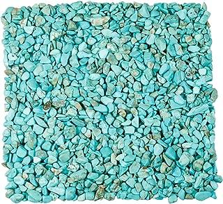 TUMBEELLUWA 1LB Chips Tumbled Stones Crushed Reiki Irregular Shaped Healing Crystal Quartz Decoration,Howlite Turquoise