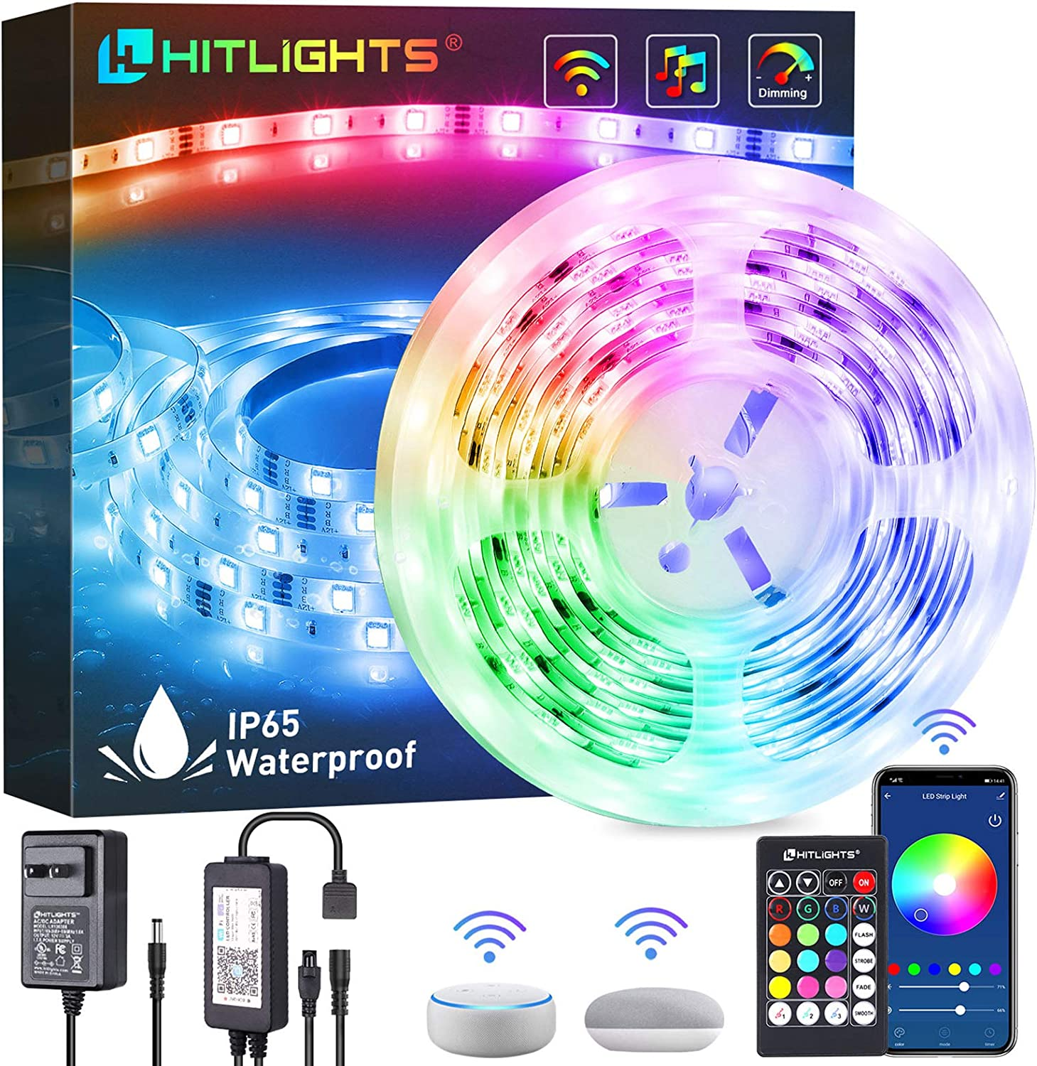 LED Strip Lights HitLights Japan's largest assortment 16.4ft APP Smart Control St WiFi 2021 autumn and winter new