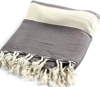 100% Cotton Bamboo Peshtemal Pestemal Turkish Towel Hamam Bathrobe Baby Towel Picnic Blanket Table Throw Sarong Black