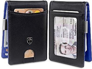 TRAVANDO Money Clip Wallet ATLANTA Mens Front Pocket Slim RFID Blocking - Credit Card Holder - Mini Bifold (Smooth Leather...