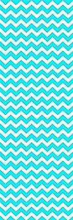 Locker Designz Back to School Magnetic Locker Chevron Wallpaper, Blue