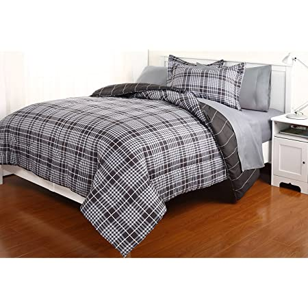 Luxury Bed In Bag Comforter Set Including Sheets Set Twin Gavin Gray Home Kitchen