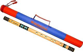 Sarfuddin flutes, Scale C Natural Medium 19.5 Inches Bamboo Flute/Bansuri.