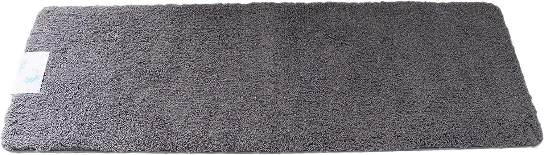 Cazsplash Luxus Microfaser Bad Runner Badteppich, Mikrofaser, Grau, Grau, Grau, 150 x 50 x 2,5 cm B0747NDQ41 b385e7