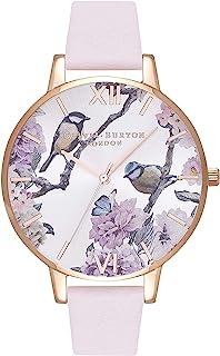 Olivia Burton Reloj Analógico para Mujer de Cuarzo con Correa en Cuero OB16PL35