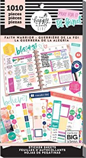 Me & My Big Ideas PPSV-82-3048 The Happy Planner Girl - Value Pack Stickers - Faith Warrior