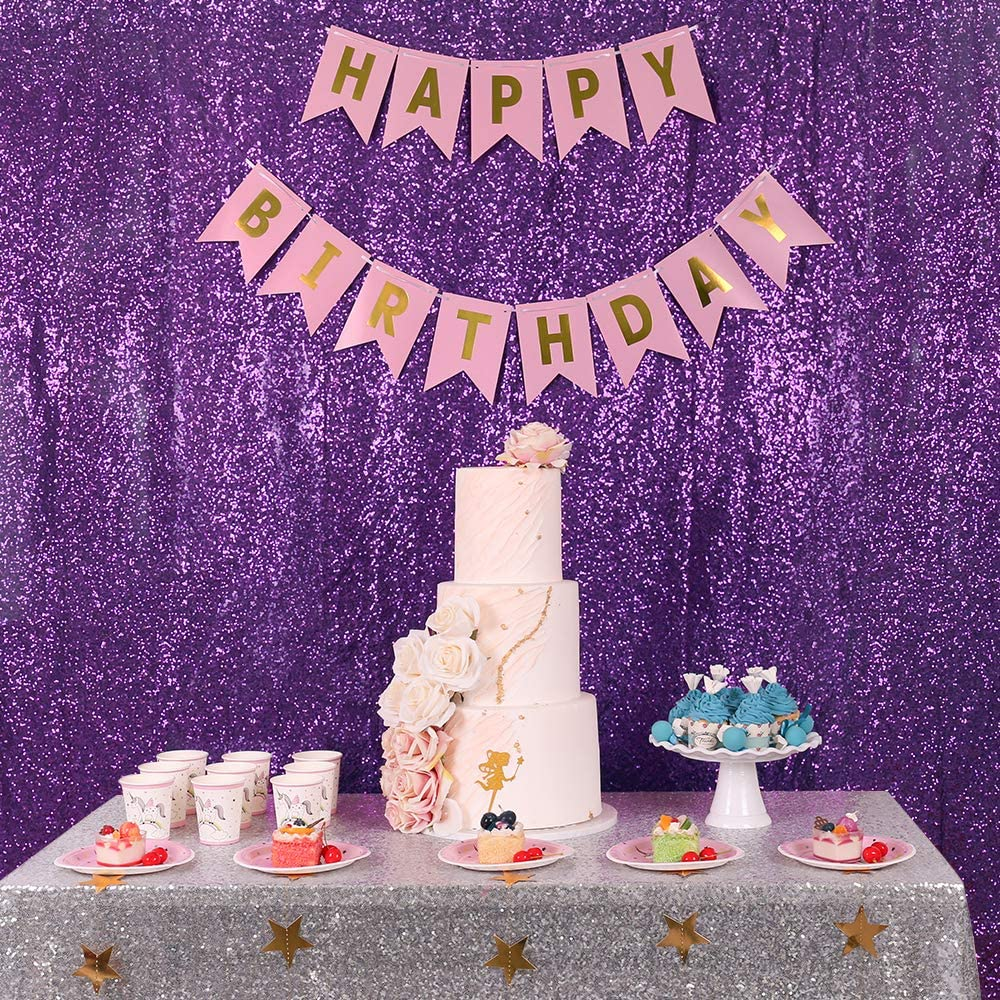 Zdada Champagne 6x8ft Sequin Satin Backdrop Fabric Party Wedding Photo Booth Backdrop Sparkly Curtain-Not Through