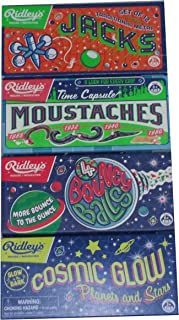 Ridley's Lot 4 Games Jacks, Moustaches, Bouncy Balls and Cosmic Glow