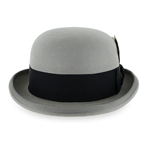 fc51c68b553 Belfry Bowler Derby 100% Pure Wool Theater Quality Hat in Black Brown Grey  Navy Pearl