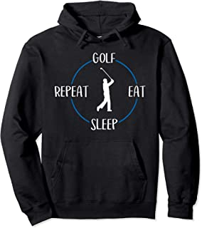 Golf Eat Sleep Repeat Gift For Golfers & Golf Players Pullover Hoodie