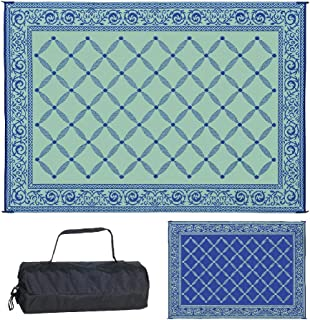Best blue outdoor patio rugs Reviews