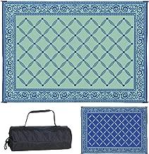 Reversible Mats 119123 Outdoor Patio 9-Feet x 12-Feet, Blue/Light RV Camping Mat