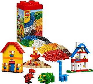 Lego Year 2013 Bucket Series Set #10664 - LEGO CREATIVE TOWER with Reusable Storage Box, Farmyard and Dinosaur-Themed Elements, Brick Separator and 3 Worker Minifigures (Total Pieces: 1600) by Bucket