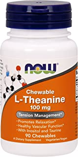 NOW® L-Theanine, 100 mg, 90 Chewables