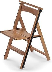 Hasegawa Ladders Arredamenti Eletta Step Stool, 47x55x84 cm, Brown