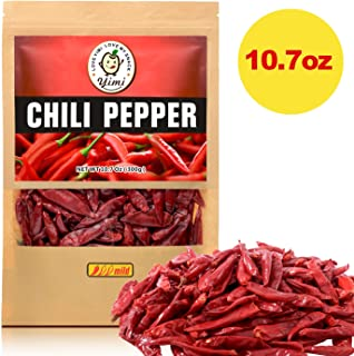 Yimi Premium Whole Dried Chilies, Chinese Dry Red Chili Peppers, For Hot Chili Oil and Sichuan Chongqing Hotpot, 10.7oz, Holiday Gift, Mild Hot