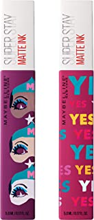 Maybelline New York Superstay Matte Ink Liquid lipstick x Ashley longshore kit, Artist + Believer, 2 Count