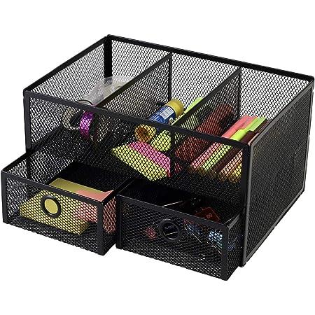 Callas Metal Mesh 5 Compartment Desk Organizer, CA17294