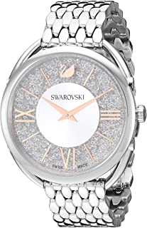 Swarovski Crystalline Glam Watch with Metal Bracelet