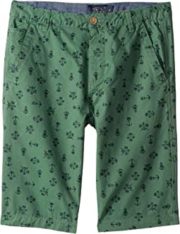 Anchor Palm Tree Flat Front Shorts (Little Kids/Big Kids)