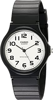 Men's Classic Quartz Watch with Resin Strap, Black, 20...