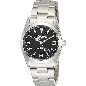 [ダニエル・ミューラー]DANIEL MULLER 腕時計 オールステンレス シンプル 日付表示 DM-2035BK ブラック