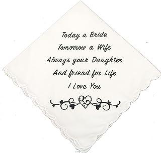Mother Father of The Bride Wedding Handkerchief by Wedding Tokens- Wedding  Keepsake 35678e51b632