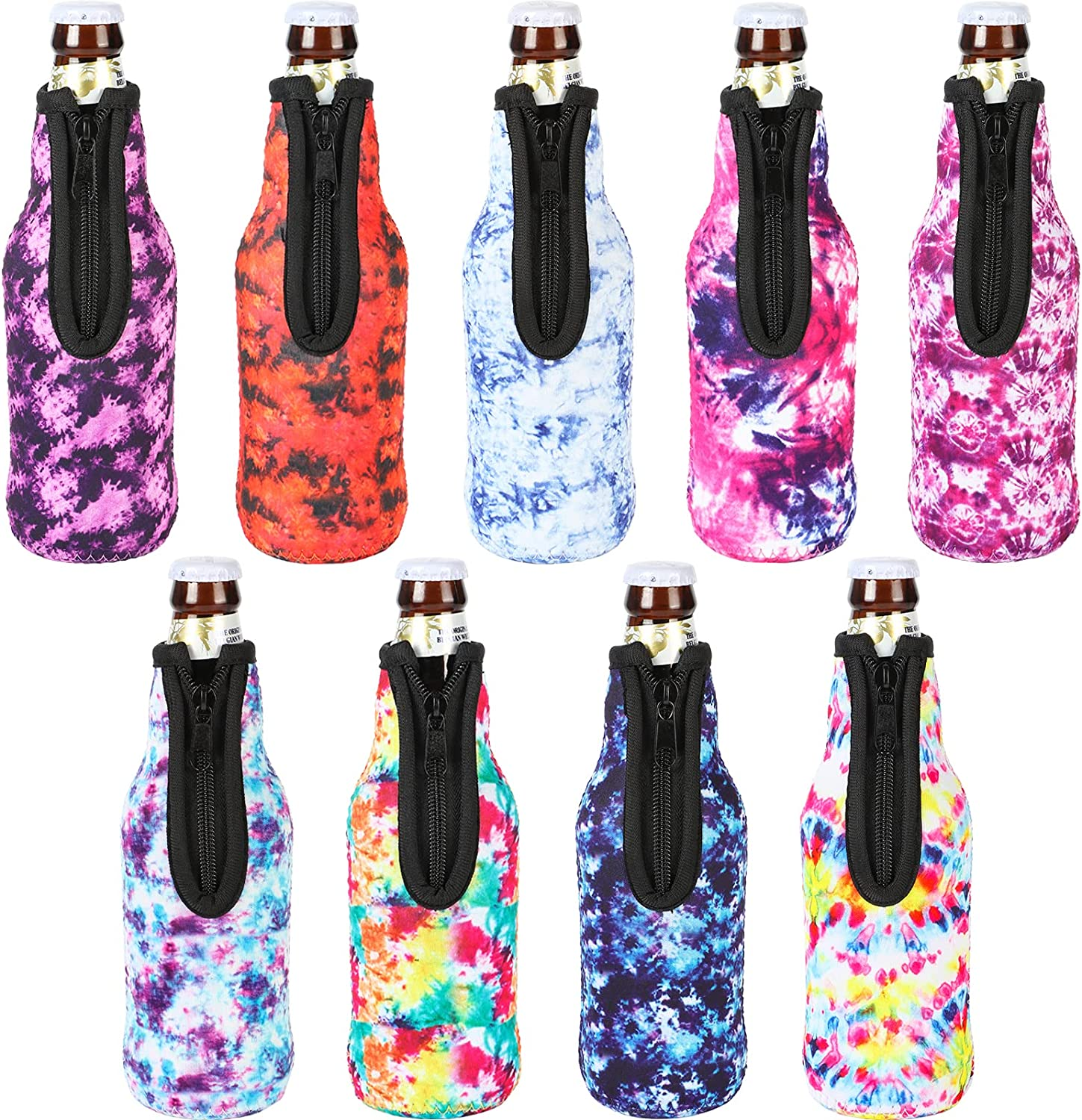 HaiMay 9 Pieces Reusable Bombing new work Beer Cooler Cheap mail order sales Bottle Covers Sleeves