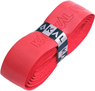 Karakal PU Supergrip Replacement Racquet Grip - Tennis/Badminton/Squash - Various Single Colours (Red, 3 Grips)