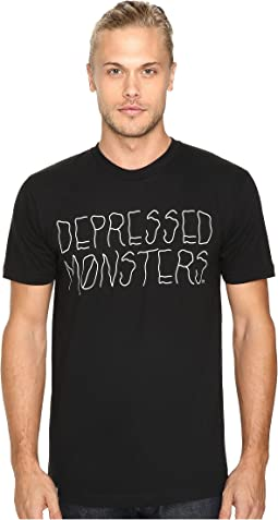 Depressed Monsters Logo Squiggly Tee
