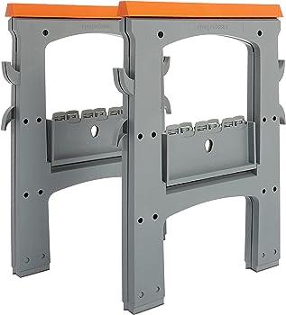 2-Pack AmazonBasics 900lb Folding Sawhorse