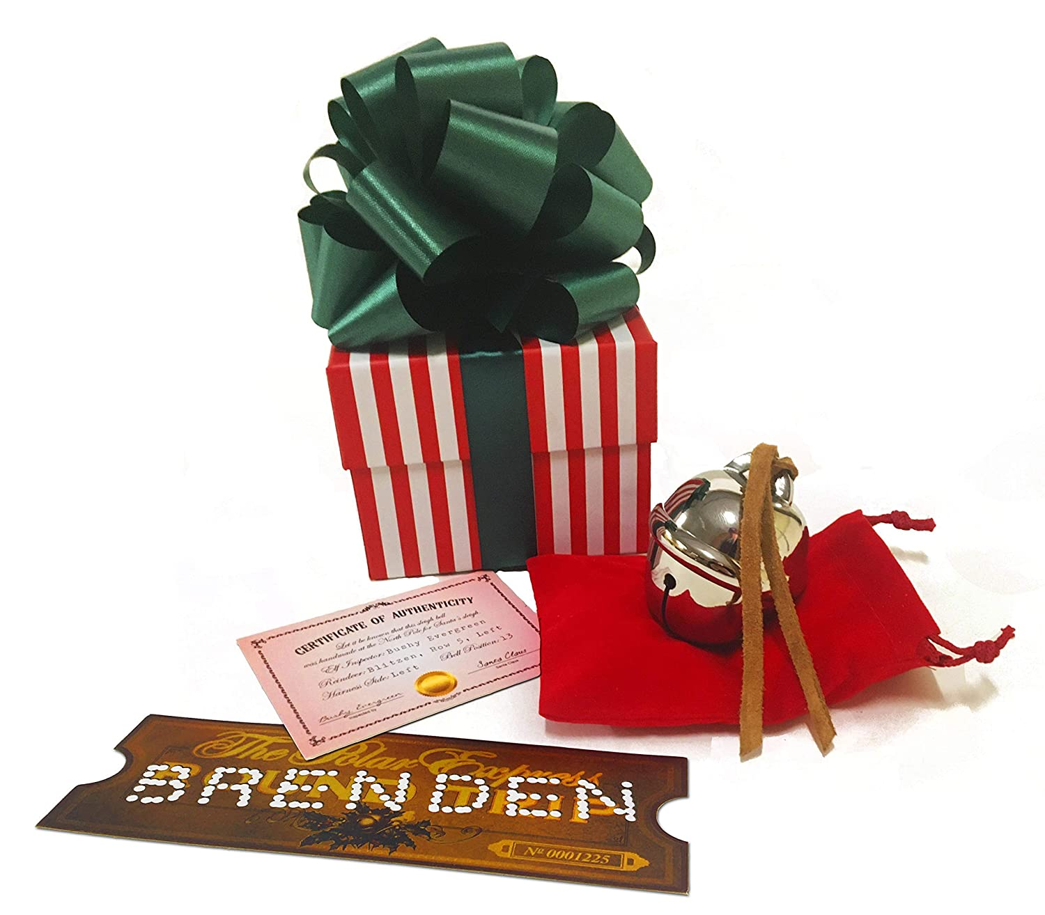 Polar Express Sleigh Bell Gift Personalized Rapid rise tic replica Set with Very popular