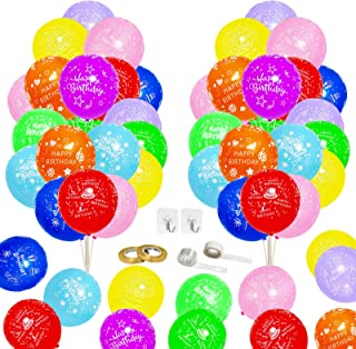 CiciBear Birthday Party Balloons Supplies for Kids, Boys, Girls and Adults Birthday Party Decorations, Pack of 106