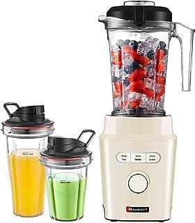 HAUSWIRT Blinder Mixer Blender Mixeur Bol en Matériau de Qualité Alimentaire sans BPA, Smoothie Robot Multifonction, Moteu...