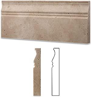 travertine baseboard
