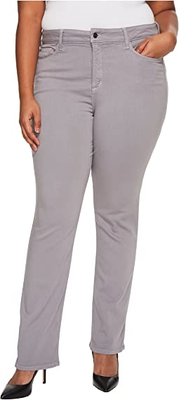 Plus Size Marilyn Straight in Luxury Touch Denim in Mineral