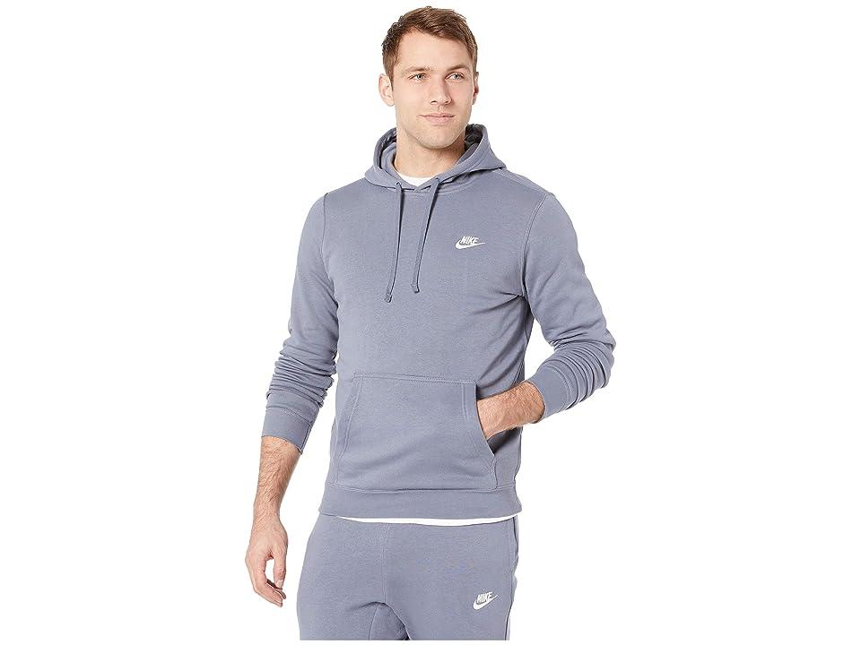 ebdb548b177c Nike Club Fleece Pullover Hoodie (Amory Blue Armory Blue White) Men s Fleece