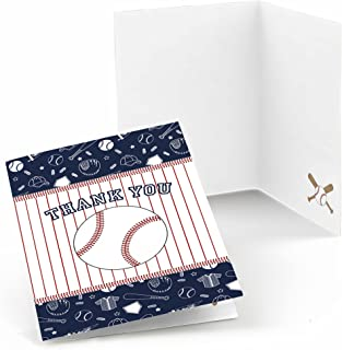 Batter Up - Baseball - Baby Shower or Birthday Party Thank You Cards - Set of 24