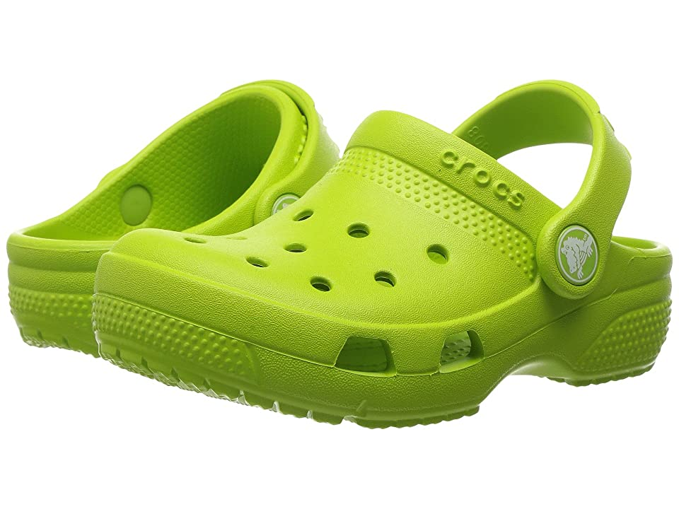 Crocs Kids Coast Clog (Toddler/Little Kid) (Volt Green) Kids Shoes