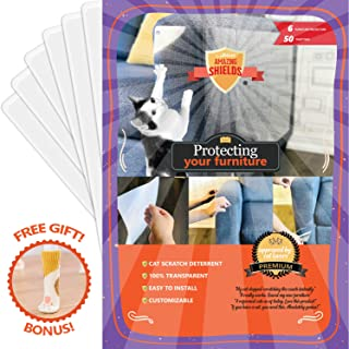 Stelucca Amazing Shields Set X-Large Furniture Protectors from Cats - Cat Repellent for Furniture - Cat Scratch Deterrent - Cat Couch Protector - Scratch pad - Cat Couch - Cat Scratcher