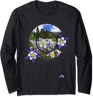 Colorado Columbines Rocky Mountain Wildflower Long Sleeve T-Shirt