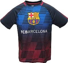 Junior Boys FC Barcelona Official Soccer Club Crew Neck Short Sleeve Jersey T Shirt Top