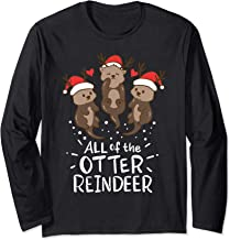 Otter Reindeer Deer Antler Moose Christmas Xmas Gift Present Long Sleeve T-Shirt