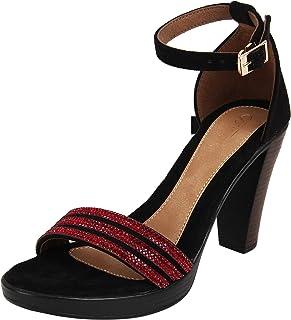 Catwalk Women's Embellished Detail Ankle Strap Sandals
