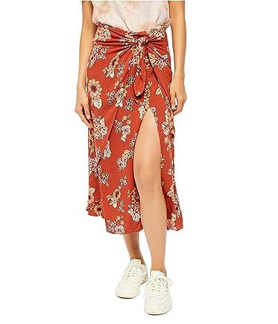 Free People Sunray Sarong Skirt (Pink Combo) Women