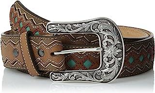 Women's Blue Diamond Inlay Center Belt